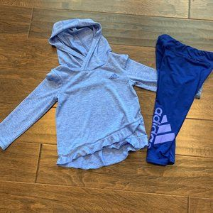 Toddler Girl Adidas 2pc hooded Athletic Outfit 2T